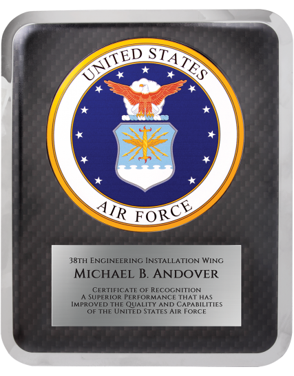 "Air Force HERO Plaque Size: 10 1/2"" x 13"
