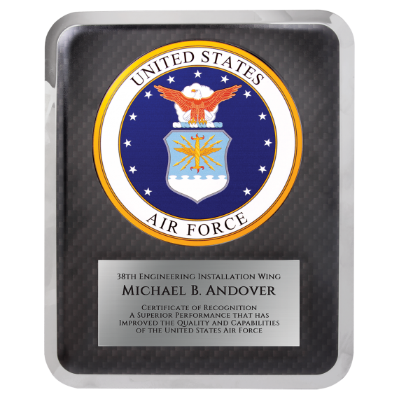 """Air Force HERO Plaque Size: 10 1/2"""" x 13"""