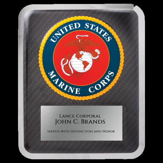 """Marine HERO Plaque Size: 10 1/2"""" x 13"""""""